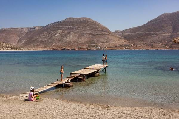 Beautiful beaches of the Cyclades
